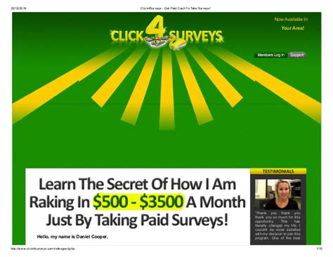 Take Surveys And Get Paid - click4 surveys get paid cash to take surveys