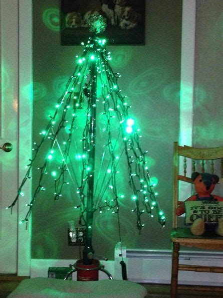 how to make an umbrella tree for christmas trees
