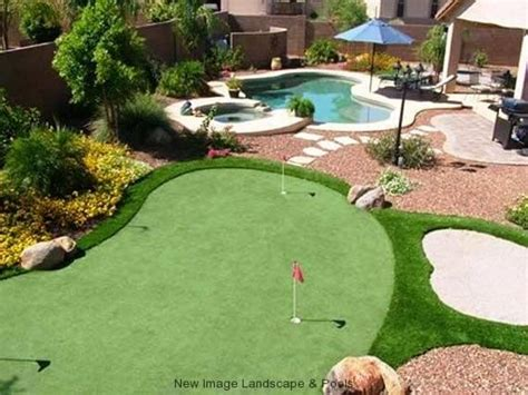 backyard golf game get a backyard putting green at home new image landscape