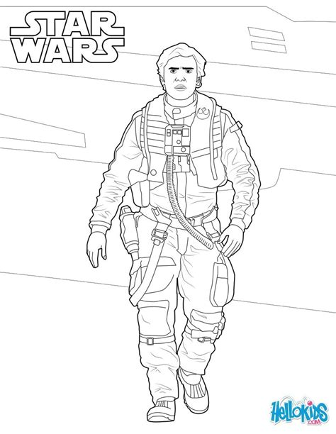 coloring pages wars awakens poe dameron wars coloring pages hellokids