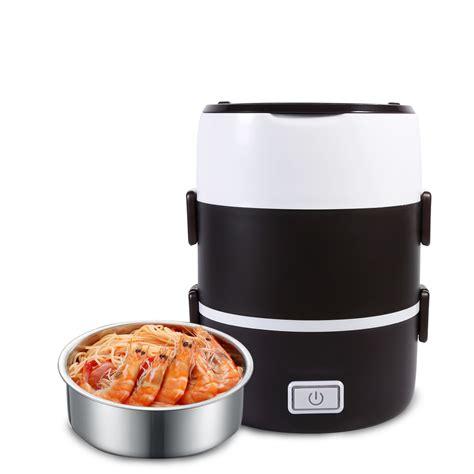 heat l food warmer portable 220v 3 tier electric lunch box set food