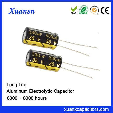 led electrolytic capacitor 330uf 35v electrolytic capacitor for led power supply