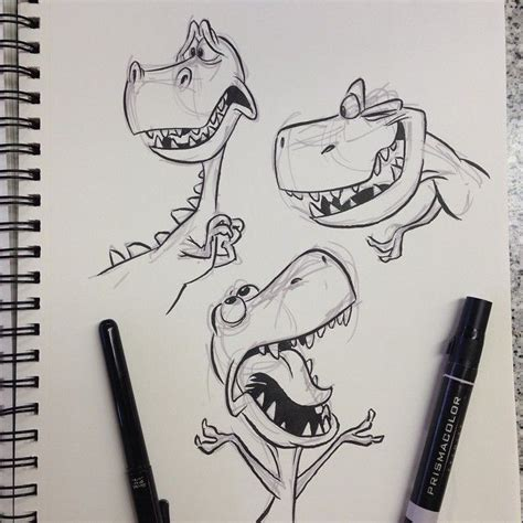 cartoon t rex tattoo 25 best ideas about dinosaur drawing on pinterest