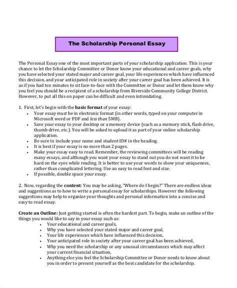 Scholarship Essay Exles Pdf scholarship application essay scholarship essay exle