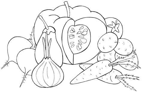 imagenes para colorear verduras y frutas dibujos de verduras