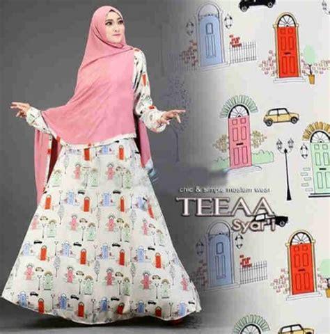Gamis Remaja Syar I Terbaru gamis modern teeaa syar i motif terbaru baju muslim remaja