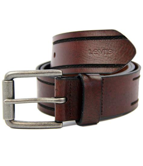 levi s 174 retro mod stitched tramline classic leather belt