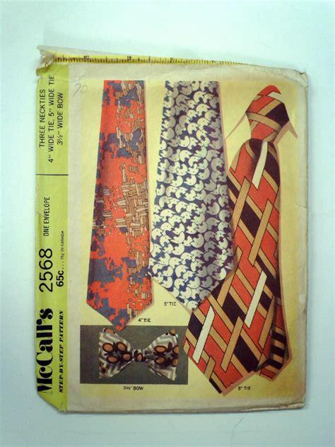 vintage pattern ties vintage 70s sewing pattern 70s mccalls 2568 three