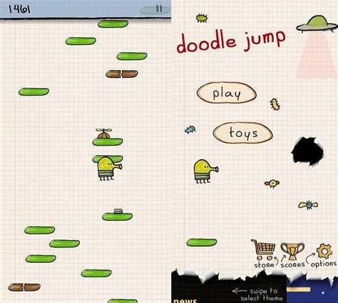 doodle jump rocket best offline android that you can play