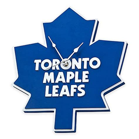 buy nhl toronto maple leafs buy nhl toronto maple leafs 3d foam wall clock from bed