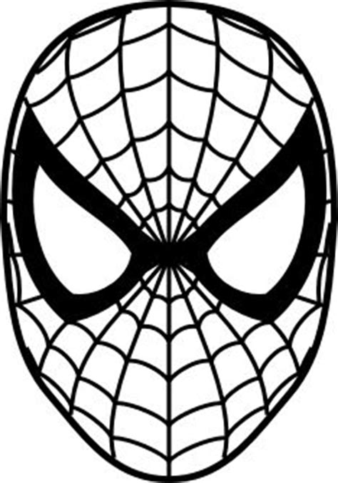 spiderman head pattern spiderman face google search silhouette crafts