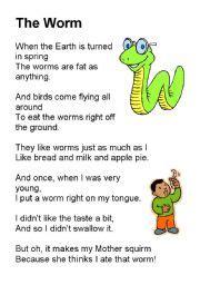 poetry esl worksheet  eln