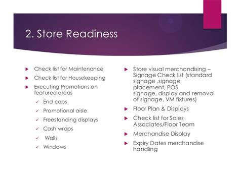 Template For Floor Plan Store Operating Procedure For Store Manager