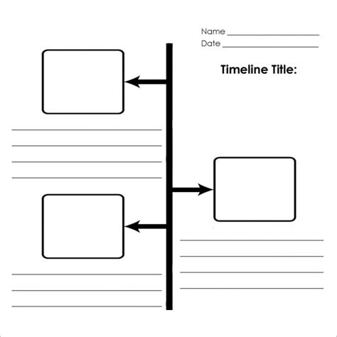 Blank Timeline Template 6 Free Download For Pdf Blank Timeline Printable