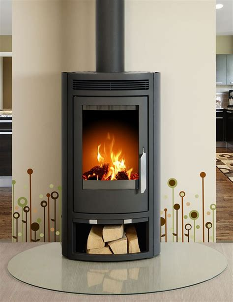 Arctic 5kW contemporary wood burning stove.