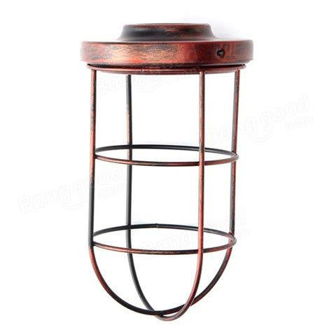 bulb cage guard iron vintage ceiling pendant cover shade