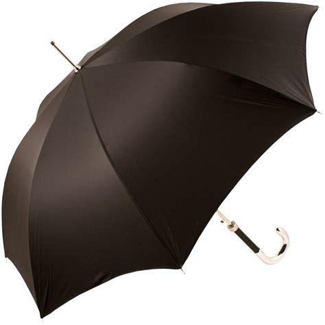 black umbrella luxury gents black umbrella with chrome handle by pasotti