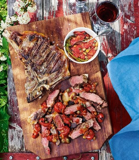 t bone steak carbohydrates t bone steaks with tomato caper and rosemary sauce