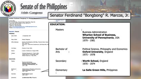 Upenn Mba Results by Exclusive Did Bongbong Marcos Lie About Oxford Wharton