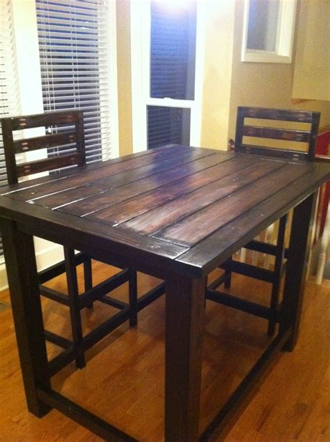 home made kitchen table diy rustic counter height table plan