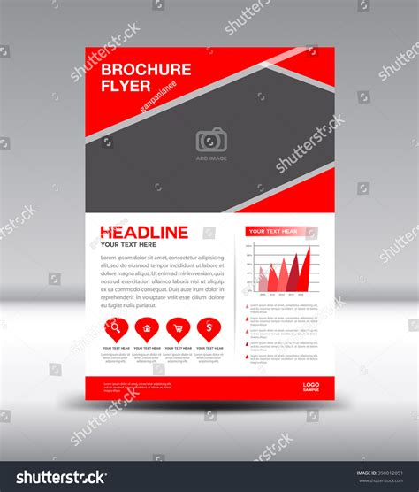 information flyer template leaflet template info graphics vector stock vector