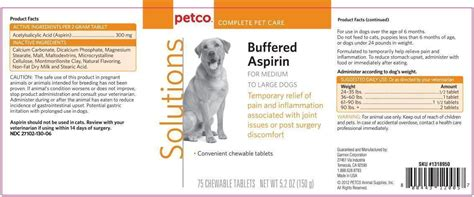buffered aspirin for dogs dailymed buffered aspirin for medium to large dogs acetylsalicylic acid tablet