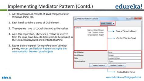 software design pattern mediator design patterns solution to software design problems