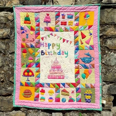 Happy Quilt Shop by Children S Happy Birthday Stitched Quilts The World