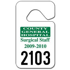 hanging parking permit template free parking permit hang tags 2 3 4 quot x 4 3 4 quot