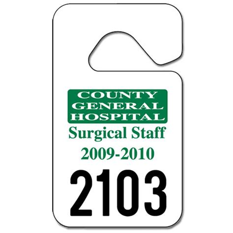 parking permit hang tags 2 3 4 quot x 4 3 4 quot custom