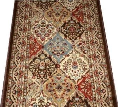 rug runner by the foot dean panel kerman chocolate carpet rug hallway runner sold by the foot traditional rugs