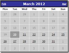 how to disable previous dates in calendar in asp