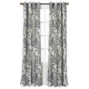 Paisley Window Curtains Threshold Paisley Curtain Panel Target