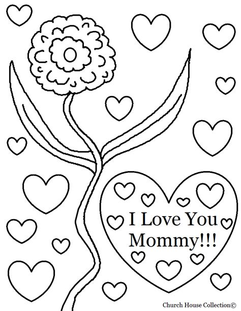 printable coloring pages i love you church house collection blog i love you mommy coloring
