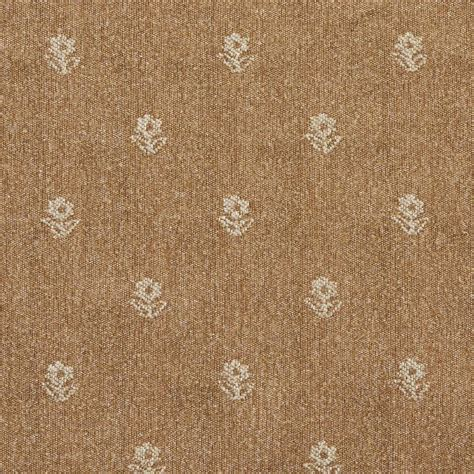Country Upholstery Fabric Light Brown And Beige Flowers Country Upholstery Fabric