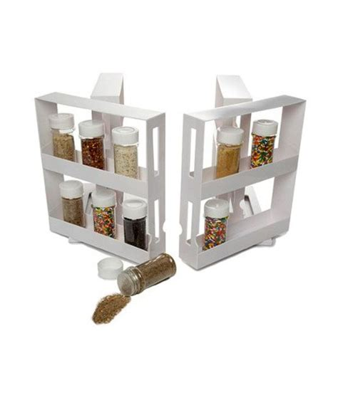 Sliding Spice Rack by Ideal Home Swivel Store Sliding Spice Jars Rack Buy At Best Price In India Snapdeal