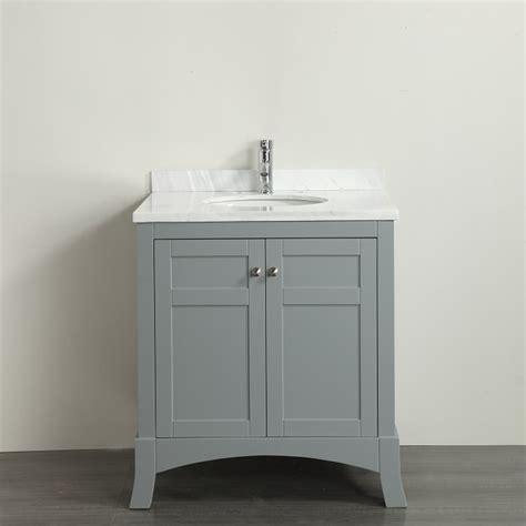 eviva new york 30 quot grey bathroom vanity with white marble
