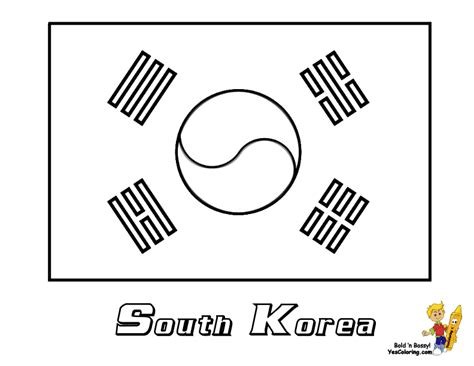 korean coloring map coloring pages