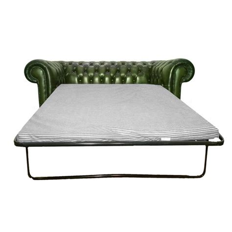 Leather Chesterfield Sofa Bed Chesterfield Antique Green Genuine Leather Two Seater Sofa Bed