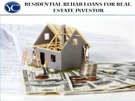 rehab loans for real estate investor