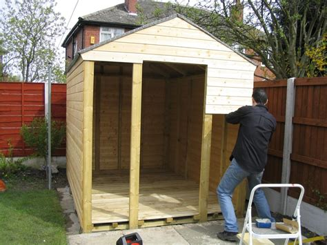 how to build a wooden shed from scratch