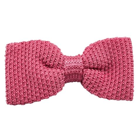 knitted silk bow tie plain pink silk knitted bow tie from ties planet uk