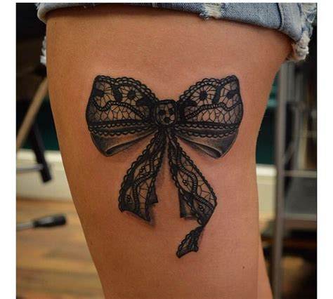 back thigh tattoo 37 best black bow tattoos images on bow