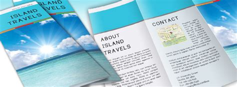 island brochure template free indesign tri fold brochure template