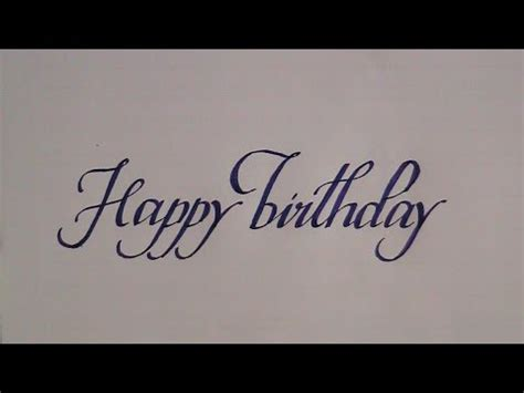 Happy Writing how to write in cursive calligraphy letters happy