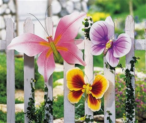 Butterfly Garden Decor Garden Butterfly Outdoor Fence Decor Ideas Garden Decoration Ideas