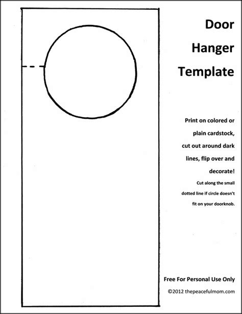 door hangers template diy door hanger with free template the peaceful