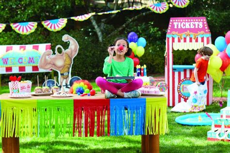 carnival backyard party outdoor carnival party ideas birthday express