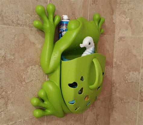 frog toy holder bathtub urban lime goods for your home in daily doses