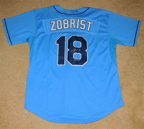 Ben Zobrist Thank You Letter ben zobrist autographed jersey rays w proof